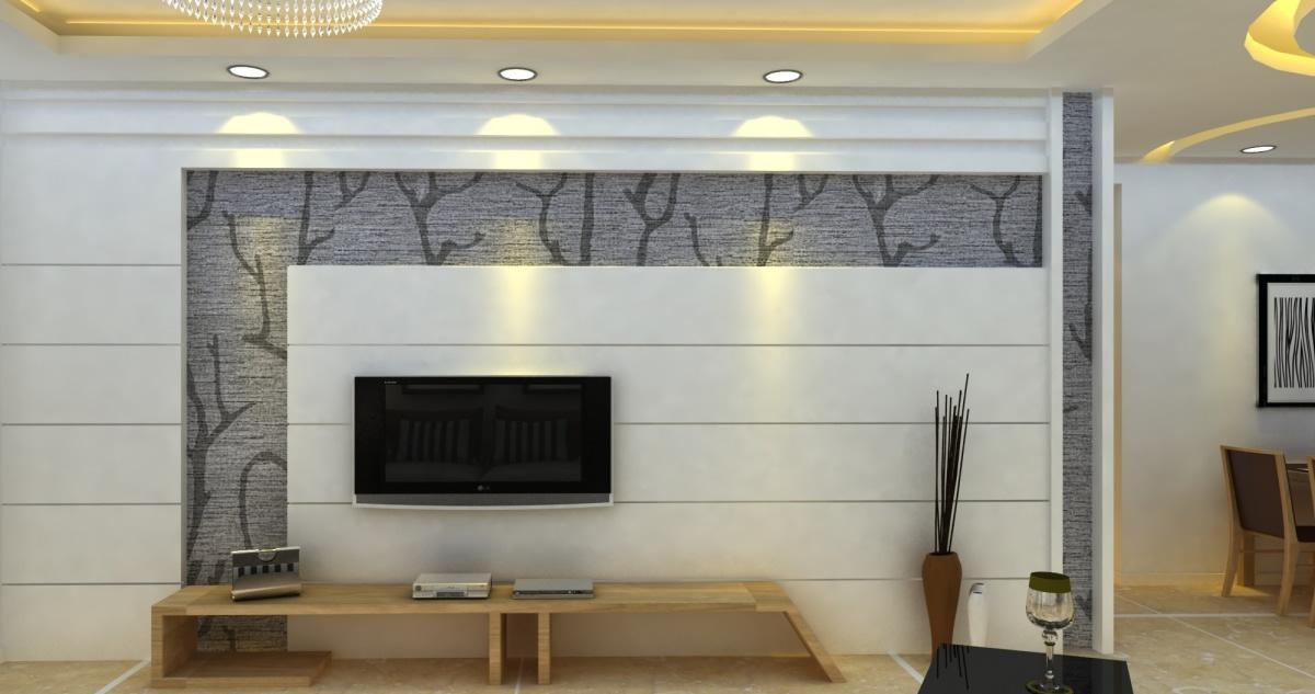 客厅电视背景墙隔断效果图2014图片